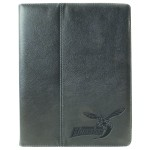 Custom Logo Embossed Leather iPad Case