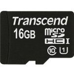 Transcend Flash memory card - 16 GB - UHS Class 1 / Class10 - microSDHC TS16GUSDCU1