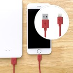 Lightning to USB ChargeSync Cable - 4.0 Feet - Red