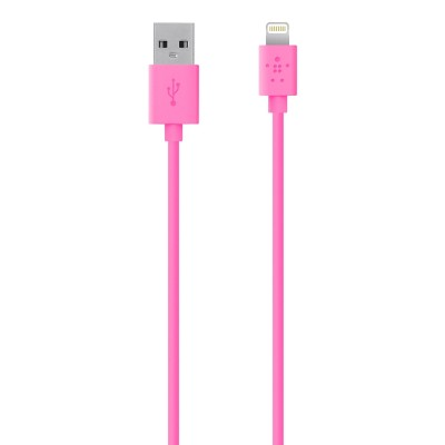 BelkinLightning to USB ChargeSync Cable - 4.0 Feet - Pink(F8J023BT04-PNK)