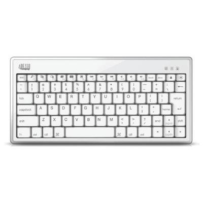 AdessoBluetooth 3.0 Mini Keyboard 1010 for iPad - White / Silver(WKB-1010CS)
