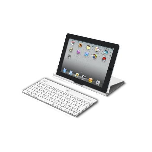 Adesso Compagno X - Aluminum Bluetooth Keyboard with Universal Case Stand for iPad