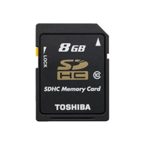 Toshiba flash memory card - 8 GB - SDHC