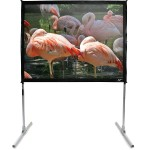 Elite Screens QuickStand Series Q275H1 - projection screen (rear) with standard legs - 275 in ( 698 cm ) Q275H1