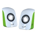 Genius SP-U115 - Speakers - for portable use - 1.5 Watt (total) - white, grass 31731006103