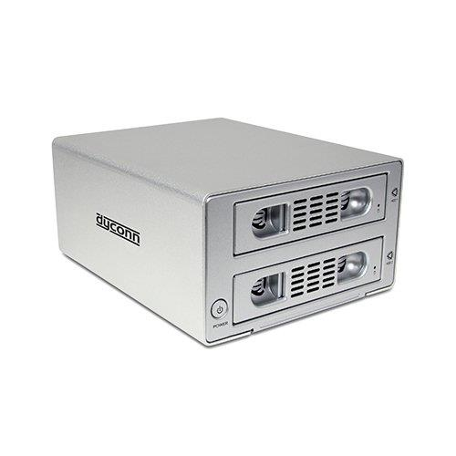 Dyconn Quartz 2 - 2 Bay RAID and JBOD Enclosure - 3.5 Inch Hard Drive eSATA, USB 3.0, RAID Storage System - Hot Swappable