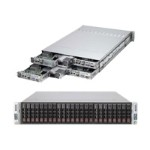 Supermicro SuperServer 2027TR-H72RF+ - 4 nodes - cluster - rack-mountable - 2U - 2-way - RAM 0 MB - no HDD - G200eW - GigE, InfiniBand - monitor: none