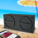 iBT24 Bluetooth Rechargeable Stereo Mini Speaker in Rubberized Finish