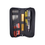 23pcs Computer Maintenance Tool Kit with Precision Screwdrivers - Tool kit - black