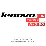 Lenovo POWER SUPPLY PX4-300R  HOT-SWAPPABLE 4N60A33905