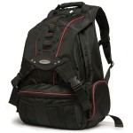 """Premium Backpack 17.3"""" - Black with Red Trim"""