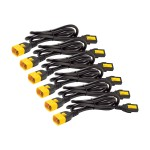 Power cable - IEC 60320 C13 to IEC 60320 C14 - 10 A - 6 ft - black - North America