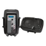 Loudspeaker PA Cabinet Speaker System, Powered 2-Way Full Range Sound, Recording Ability, USB/SD, Aux Input, 10-Inch, 800 Watt