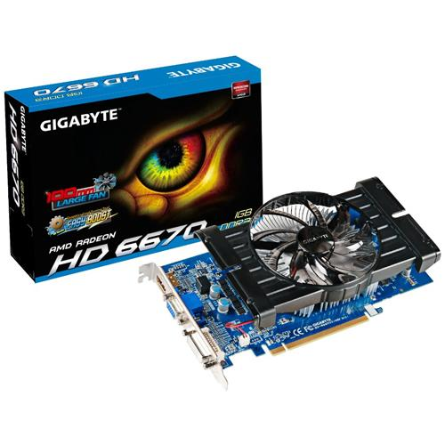 Gigabyte GV-R667D3-1GI graphics card - Radeon HD 6670 - 1 GB (Open Box Product, Limited Availability, No Back Orders)