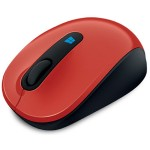 Sculpt Mobile Mouse - Mouse - optical - 3 buttons - wireless - 2.4 GHz - USB wireless receiver - flame red