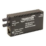 Stand-Alone Mini Fast Ethernet Media Converter - Fiber media converter - Fast Ethernet - 100Base-FX, 100Base-TX - RJ-45 / ST multi-mode - up to 1.2 miles - 1300 nm