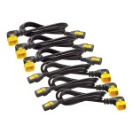 Power cable - IEC 60320 C13 to IEC 60320 C14 - 10 A - 4 ft - 90° connector - black - North America