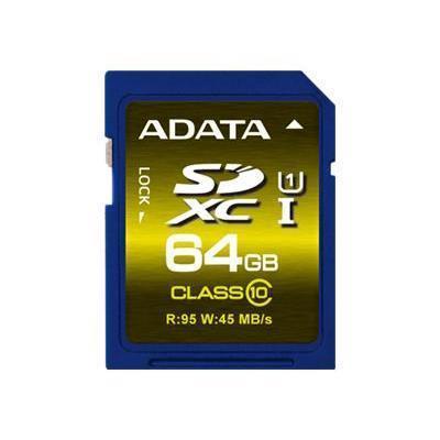 A-DATA TechnologyPremier UHS-I - flash memory card - 64 GB - SDXC UHS-I(ASDX64GUICL10-R)
