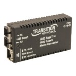 Transition Stand-Alone Mini Gigabit Ethernet Media Converter - Fiber media converter - Gigabit Ethernet - 1000Base-LX, 1000Base-T - RJ-45 / SC single-mode - up to 6.2 miles - 1310 nm M/GE-T-LX-01-NA
