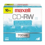 Maxell 4x 700MB CD-RW Media (10-pack Slim Jewel Cases) 630011