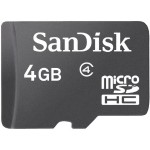 Sandisk 4GB microSD High Capacity Card with Adapter SDSDQ-004G-A46A