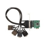 ID-E40011-S1 - Serial adapter - PCIe low profile - RS-232 - 4 ports