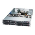 "Supermicro SuperServer 6027R-72RFTP+ - Server - rack-mountable - 2U - 2-way - RAM 0 MB - SATA/SAS - hot-swap 3.5"" - no HDD - G200eW - GigE, 10 GigE - monitor: none"
