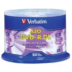 DVD+R DL 8.5GB 8X with Branded Surface - 50pk Spindle