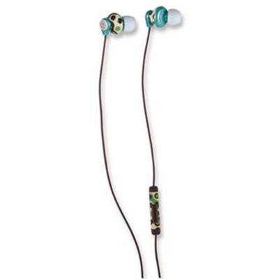 Manhattan Office Products Signature Collection Cellular In-Ear Full-Stereo Headphones - Tricolor Pattern (Teal, Tan, Brown) (178327)