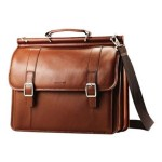 """Leather Dowel Flapover Business Case - Notebook carrying case - 15.6"""""""