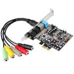 Dual Profile PCI-Express 7.1-Channel Sound Card