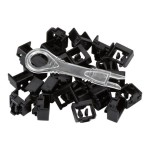 Black Box LockPORT Secure Port Locks - Outlet port lock kit - (pack of 25 ) PL-AB-BK