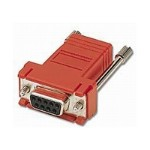 Modular Adapter - Serial RS-232 adapter - RJ-45 (F) to DB-9 (F) - red