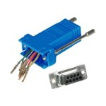Cables To Go Modular Adapter - Serial RS-232 adapter - RJ-45 (F) to DB-9 (F) - blue 02942