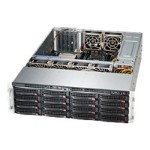 Supermicro SC836 BHE26-R1K28B - Rack-mountable - 3U - enhanced extended ATX - SAS - hot-swap 1280 Watt - black - USB/serial