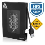 "Aegis Padlock Fortress - Solid state drive - encrypted - 128 GB - external (portable) - 2.5"" - USB 3.0 - FIPS 140-2 Level 2, 256-bit AES-XTS"
