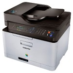 Samsung Xpress C460FW - Multifunction printer - color - laser - Legal (media) - up to 19 ppm (copying) - up to 19 ppm (printing) - 150 sheets - 33.6 Kbps - USB 2.0, LAN, Wi-Fi(n), USB host, NFC SL-C460FW/XAA
