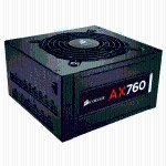 AX760 - Power supply (internal) - ATX12V 2.31/ EPS12V 2.92 - 80 PLUS Platinum - AC 100-240 V - 760 Watt - active PFC - North America