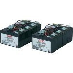 Replacement Battery Cartridge #12 - UPS battery - 2 x lead acid - black - for P/N: DL5000RMT5U, SU5000R5TBX114, SU5000R5TBXFMR, SU5000R5T-TF3, SU5000R5XLT-TF3 (Open Box Product, Limited Availability, No Back Orders)