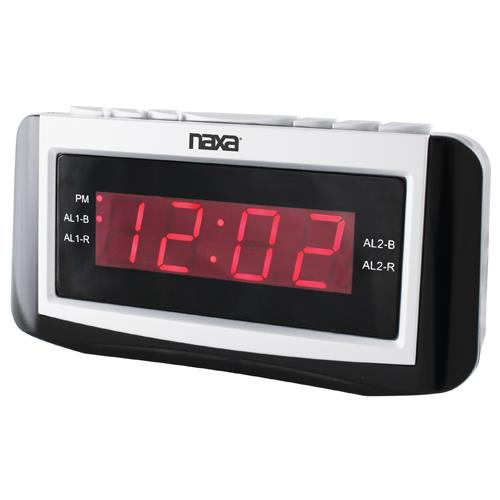 Naxa Electronics NAXA NRC171 DIGITAL ALARM CLOCK WITH LA