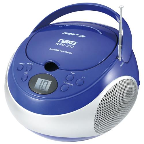 Naxa Electronics NAXA NPB252BL PORTABLE CD/MP3 PLAYER WI