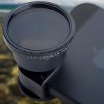 Telephoto + Circular Polarizing Lens System for iPhone 5 / 5s