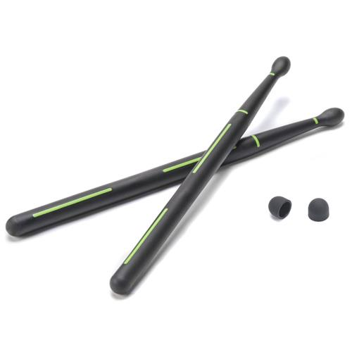 DRUMMERZ Stickteck Tablet Drumsticks for Percussion Apps on iPad & Android Tablets - Black