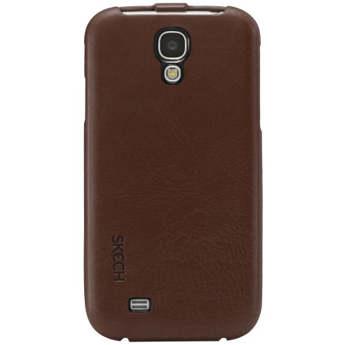 SKECH CUSTOM JACKET FOR GALAXY S4-BROWN