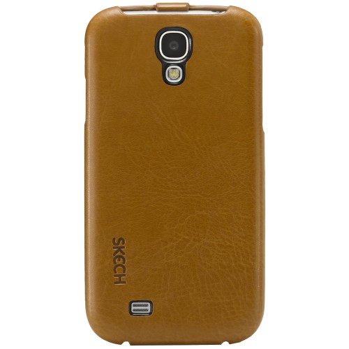 SKECH CUSTOM JACKET FOR GALAXY S4-TAN