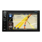 Boss Audio Systems BV 9386NV - Navigation system - display - 6.2 in - touch screen - in-dash unit - Double-DIN - 80 Watts x 4 BV9386NV