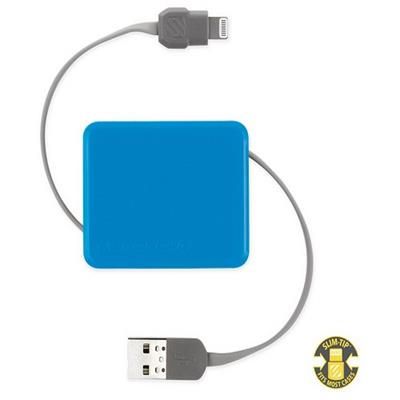 ScoscheboltBOX Retractable Charge & Sync Cable for Lightning Devices - Blue(I2BOXBL)