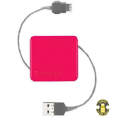 Scosche boltBOX Retractable Charge & Sync Cable for Lightning Devices - Pink (I2BOXPK)