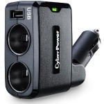 Cyberpower Travel USB Charger - Power adapter - car - 2.1 A - 3 output connectors ( USB, 2-pole ) CPTDC1U2DC