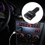 Travel USB Charger - Power adapter - car - 2.1 A - 2 output connectors ( USB ) - black